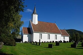 Jelsa (municipality) - View of Jelsa Church, the main church for the municipality