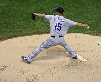 Jeremy Guthrie - Guthrie pitching for the Colorado Rockies in 2012