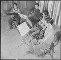 Jerome Relocation Center, Denson, Arkansas. A self organized string quartet, or more accurately, a . . . - NARA - 539357.tif