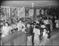 Jerome Relocation Center, Denson, Arkansas. A view of the interior of the store in Block 8, showing . . . - NARA - 538888.tif