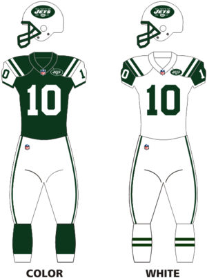 2010 New York Jets season - Image: Jets uniforms 12