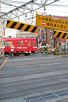 Jingumae sta level crossing half opened.JPG