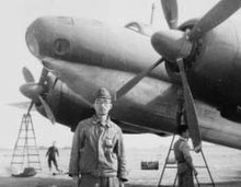 Jiro Tanaka in front of the Tachikawa Ki-74 after the WWII.jpg
