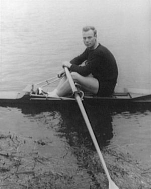 "College Boat Club - Joe Burk, ""world's greatest oarsman,"" WWII PT boat commander"