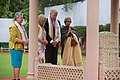 Joe and Jill Biden lay a wreath at the Martyr's Column at the Gandhi Smriti Museum in New Delhi, India.jpg