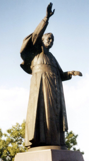 One of many John Paul II statues