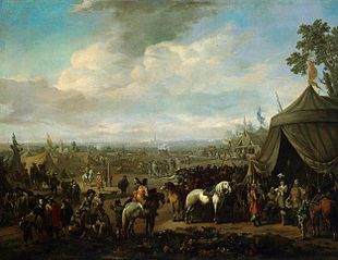 Flemish Town Sieged by the Spanish Soldiers
