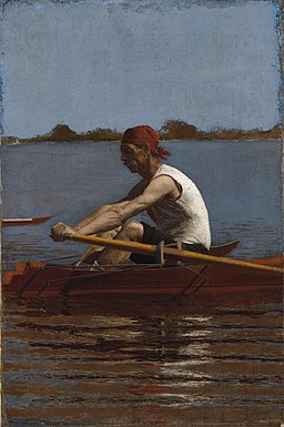 John Biglin in a Single Scull Thomas Eakins