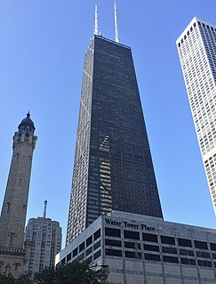 John Hancock Center skyscraper in Chicago, Illinois, United States