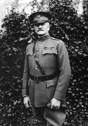 Pershing Rifles - A 1918 photo of General of the Armies John J. Pershing. Pershing maintained a deep and abiding interest in Pershing Rifles for his entire life.