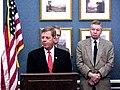 Johnny Isakson speaks at a press conference on education legislation.jpg