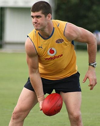 Jonathan Brown (Australian footballer) - Brown at a training session in December 2008