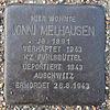 Stolperstein für Jonni Melhausen