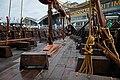 "Jorgen Jorgenson Gokstad viking ship reconstruction - Swedish History Museum–MuseumsPartner exhibition ""Vikings Beyond the legend"" Australian National Maritime Museum Sydney 2013.jpg"