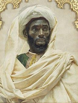 José Tapiro y Baro Portrait of a Moroccan man
