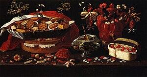 Josefa de Óbidos - Still Life with Sweets (c. 1679). Santarém, Municipal Library