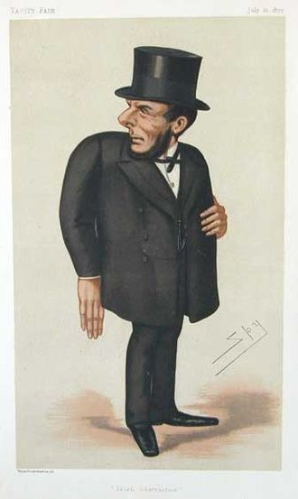 "Joseph Biggar - ""Irish obstruction"" Biggar as depicted by ""Spy"" (Leslie Ward) in Vanity Fair, 21 July 1877"