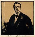 Joseph Chamberlain. Reproduction of woodcut by W. Nicholson. Wellcome V0001057.jpg