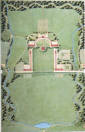Joseph-Jacques Ramée - The original 1813 Ramée plan of the Union College campus