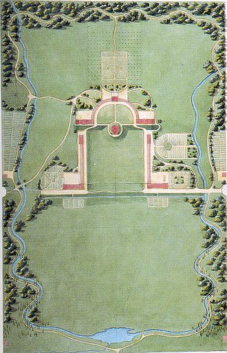 Campus - Joseph Jacques Ramée's original plan for Union College in Schenectady, New York, the first comprehensively planned campus in the United States