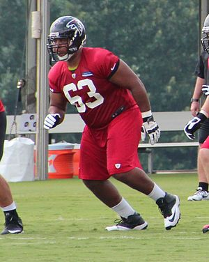 Justin Blalock - Blalock with the Falcons in 2013