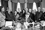 KN-27888. President John F. Kennedy Signs Proclamation Declaring Sir Winston Churchill an Honorary Citizen of the United States.jpg