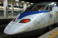 South Korea's KTX train can speed up to 300 km...