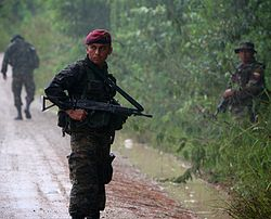 Kaibil special forces during training mission.jpg