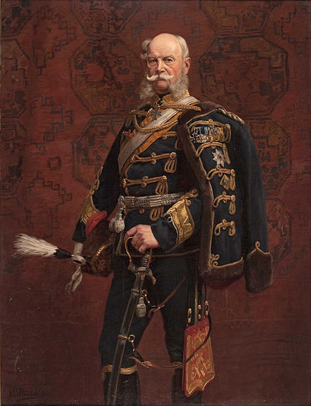 William in a hussar's uniform, in a painting by Emil Hunten Kaiser-wilhelm-I.jpg