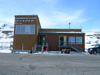Kangiqsualujjuaq - Kangiqsualujjuaq's airport in April 2006