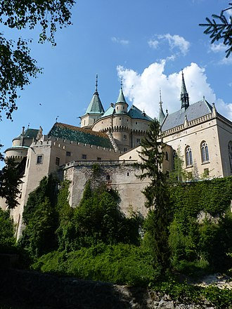 Fantaghirò 2 - Bojnice Castle was the Black Witch's castle in the film