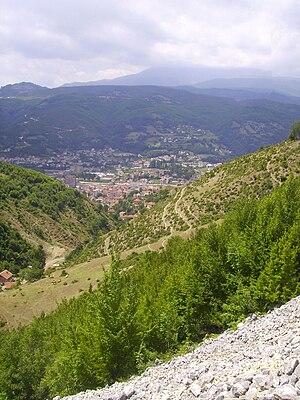 Kaçanik - Image: Kaqanik from Rakoci Gorge