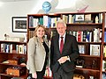 Karen Bradley MP stops in to see President Clinton at the Clinton Foundation in New York (40806662172).jpg