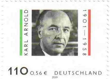 Karl Arnold Briefmarke Detail