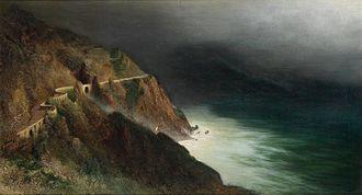 Karl Wilhelm Diefenbach - Image: Karl Wilhelm Diefenbach Coastal Road near Sorrento Amalfi
