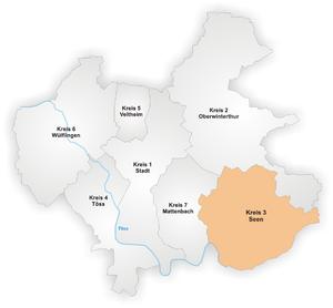 Seen (Winterthur) - Image: Karte Winterthur Stadtkreis 3
