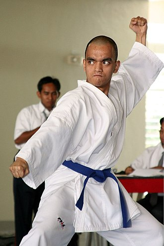 Karate gi - A karateka wearing a karategi