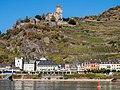 Kaub mit Burg Gutenfels,Traubenlese.jpg
