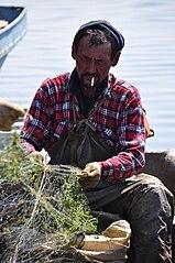 Kazakh fisherman Aralsk