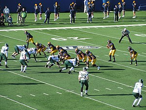 Kent State Golden Flashes football - Kent State vs. Ohio at Dix Stadium in 2012. The Flashes won the game 28–6 to clinch an 8–0 season in MAC play