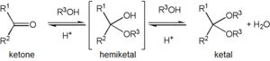 Acetal - Ketone to ketal conversion