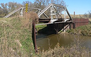 National Register of Historic Places listings in Tripp County, South Dakota - Image: Keya Paha River 318 Ave bridge from SW 1