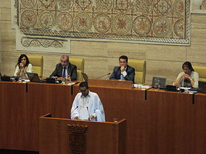 Sahrawi National Council - Image: Khatri adduh parlamento extremadura