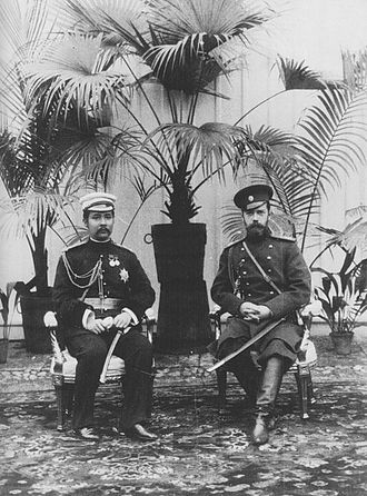 Thailand - King Chulalongkorn with Tsar Nicholas II in Saint Petersburg, during his first Grand Tour in 1897
