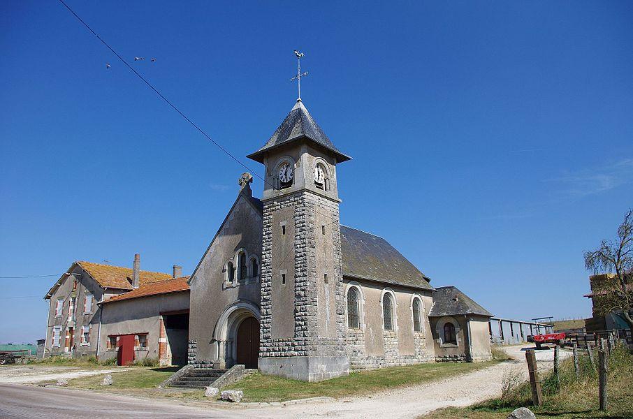 Lahayville im Department Mosel in Lothringen. Die Kirche stammt aus dem Jahr 1747 und steht unter Denkmalschutz.