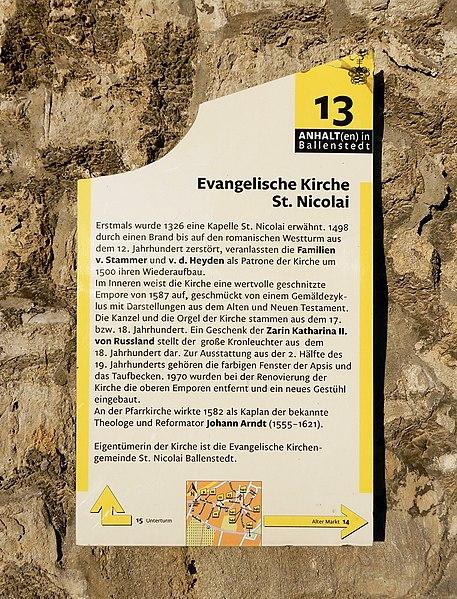 File:Kirchhofplatz St. Nicolai (Ballenstedt) Informationstafel.jpg