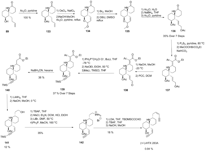 25 Step Synthesis of HTX presented by the Kishi group in 1985.