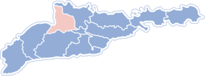 Kitsmansky district on the map
