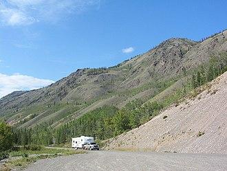 Klondike Highway - Klondike Highway near Five Finger Rapids (Yukon River)