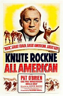 <i>Knute Rockne, All American</i> 1940 film by William K. Howard, Lloyd Bacon